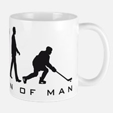 evolution of man hockey player Small Mug