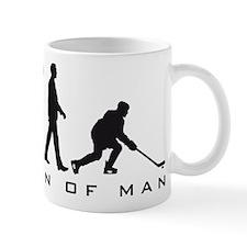 evolution of man hockey player Small Mug