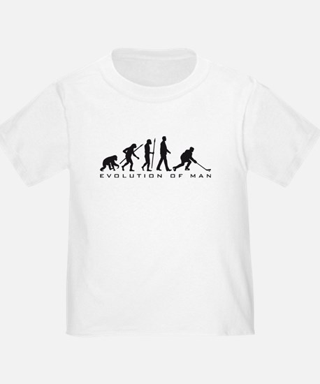 evolution of man hockey player T-Shirt