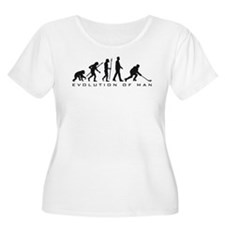 evolution of man hockey player Plus Size T-Shirt