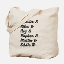 Frasier Show Characters Tote Bag