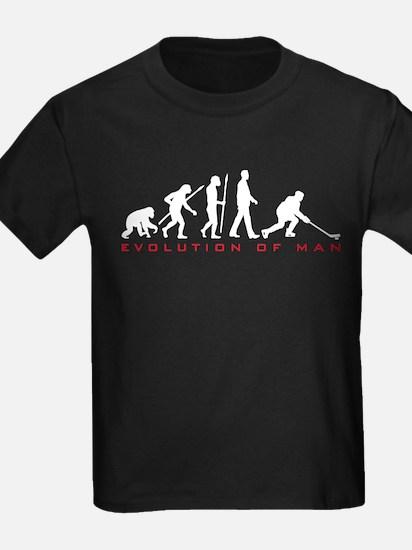 evolution of man hockey player T-Shirt