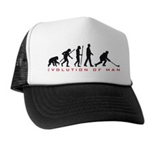 evolution of man hockey player Hat