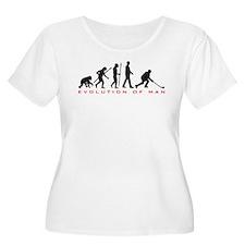 evolution of man hockey player Plus Size T-Shirt