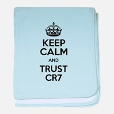 Keep Calm and Trust CR7 baby blanket