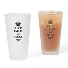 Keep Calm and Trust CR7 Drinking Glass