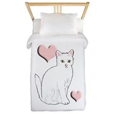 White Kitty Twin Duvet