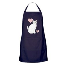 White Kitty Apron (dark)