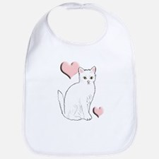 White Kitty Bib