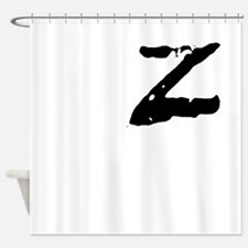 Z Shirt Shower Curtain