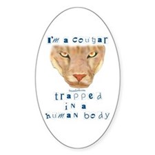 I'm a Cougar Oval Decal