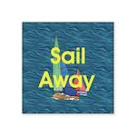 TOP Sail Away Square Sticker 3