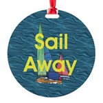 TOP Sail Away Round Ornament