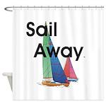 TOP Sail Away Shower Curtain