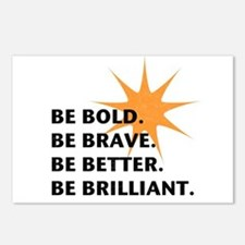 Be Bold Be Brilliant Postcards (Package of 8)