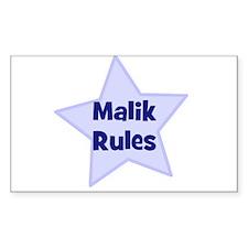 Malik Rules Rectangle Decal