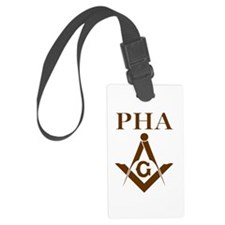 Prince Hall Square and Compass Luggage Tag