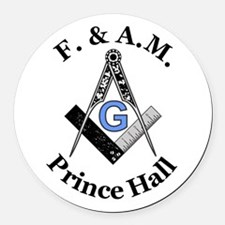 Prince Hall With S And C 3.png Round Car Magnet