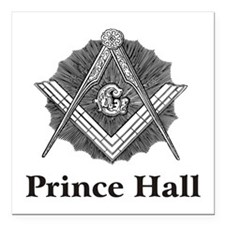 Prince Hall Square and Compass Square Car Magnet 3