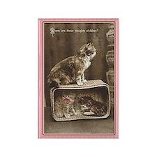 Vintage Kittens Rectangle Magnet