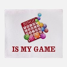 BINGO IS MY GAME Throw Blanket