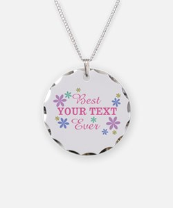 PERSONALIZE Best Ever Necklace Circle Charm