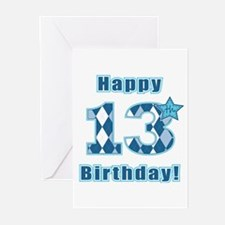 Happy 13th Birthday! Greeting Cards (Pk of 10)