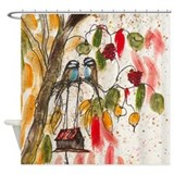 Funny birds Shower Curtains