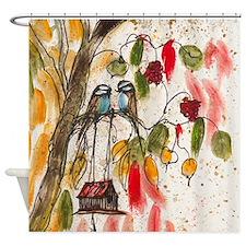 Love Birds Modern Shower Curtain