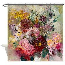 Modern Floral Shower Curtain