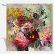 Modern Floral Shower Curtain
