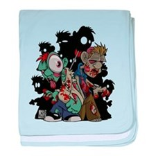Zombies Attack! baby blanket