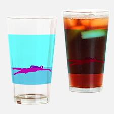 PURPLE SWIMMER Drinking Glass