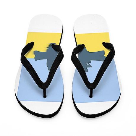 CHALK BLUE SKY CANOE Flip Flops