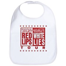 Red Lips White Lies Bib