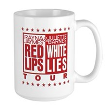 Red Lips White Lies Mug