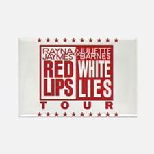 Red Lips White Lies Rectangle Magnet