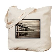 Huntington Beach CA Pier Tote Bag