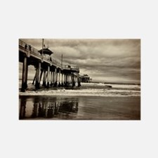 Huntington Beach CA Pier Rectangle Magnet