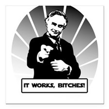 """Science works Square Car Magnet 3"""" x 3"""""""