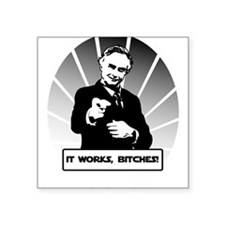 "Science works Square Sticker 3"" x 3"""