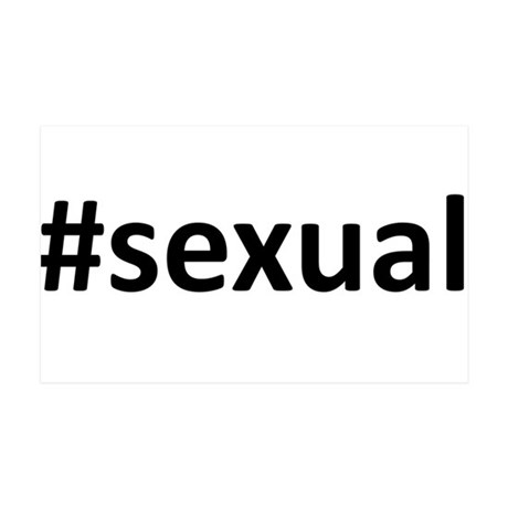 Hashtag #Sexual 35x21 Wall Decal