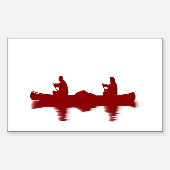 RED CANOE Sticker (Rectangle)
