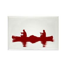 RED CANOE Rectangle Magnet