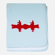 RED CANOE baby blanket