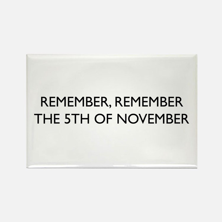 Guy Fawkes Rectangle Magnet