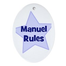 Manuel Rules Oval Ornament