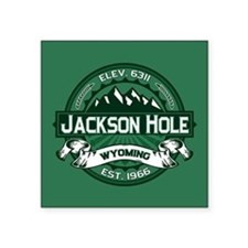 "Jackson Hole Forest Square Sticker 3"" x 3"""