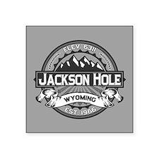 "Jackson Hole Grey Square Sticker 3"" x 3"""
