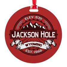 Jackson Hole Red Round Ornament